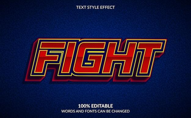 Effetto di testo modificabile, stile di testo di lotta