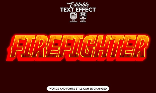 Effetto testo modificabile pompiere