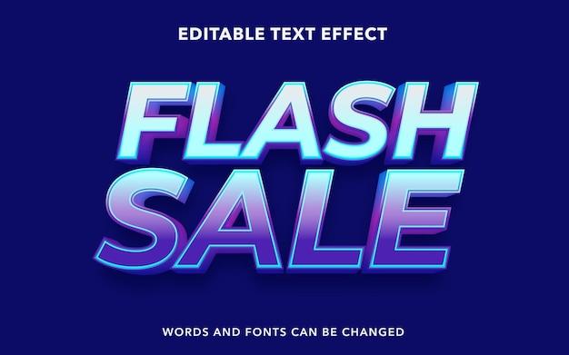 Effetto di testo modificabile per la vendita flash