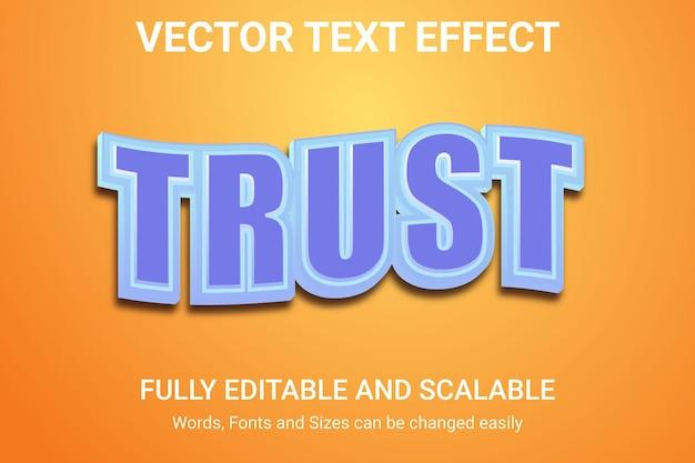 Effetto di testo modificabile - stile di testo flash