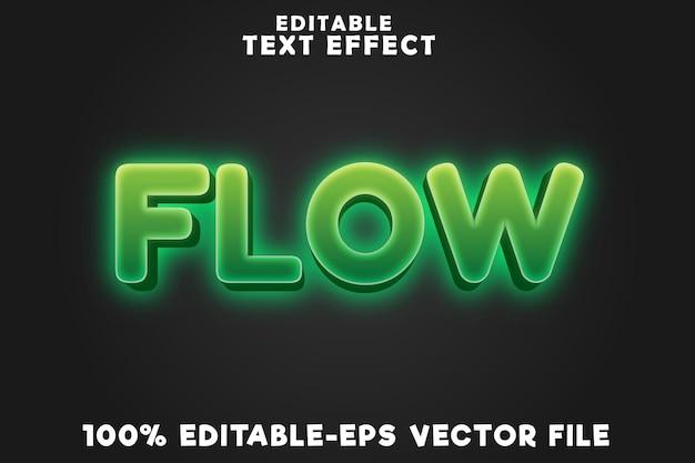 Flusso di effetti di testo modificabile con stile neon