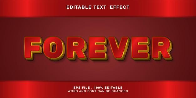 Effetto di testo modificabile per sempre