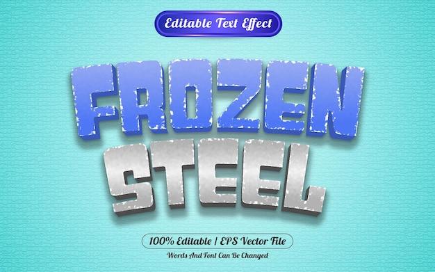 Effetto testo modificabile stile modello acciaio congelato
