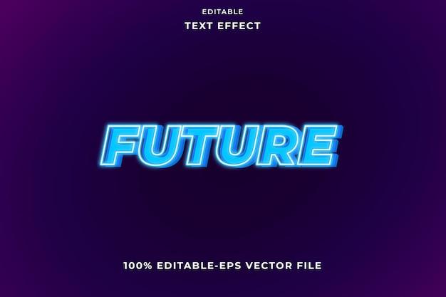 Testo modificabile effetto future blue