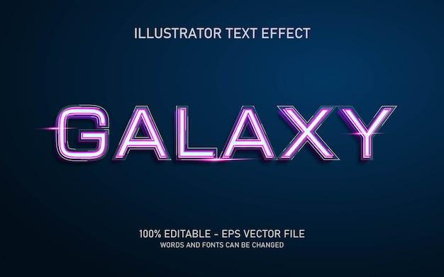 Effetto di testo modificabile, illustrazioni in stile galaxy