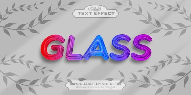Effetto testo modificabile, testo in vetro