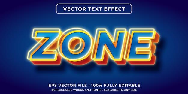 Effetto di testo modificabile in stile di testo di gioco luminoso
