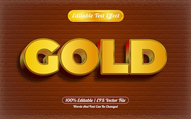 Tema di lusso oro effetto testo modificabile