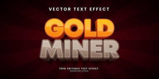 Effetto di testo modificabile in stile cercatore d'oro gold