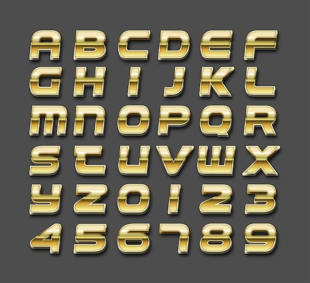 Effetto di testo modificabile, stile di testo di lusso dorato vector