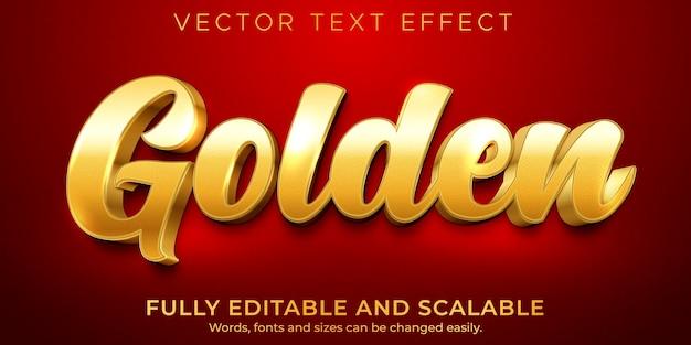 Testo modificabile effetto dorato stile di testo di lusso