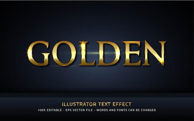 Effetto di testo modificabile, illustrazioni in stile dorato