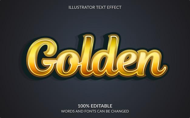 Effetto di testo modificabile, stile di testo dorato