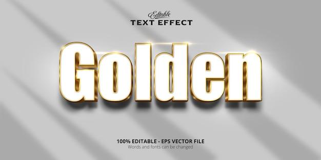 Effetto di testo modificabile, testo dorato