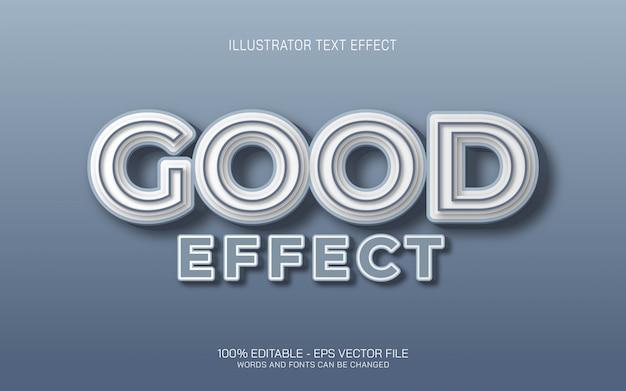 Effetto di testo modificabile, illustrazioni in stile good effect