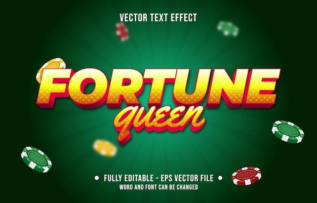Modello di effetto del carattere di stile del gioco del poker del casinò di colore del gradiente dell'effetto di testo modificabile