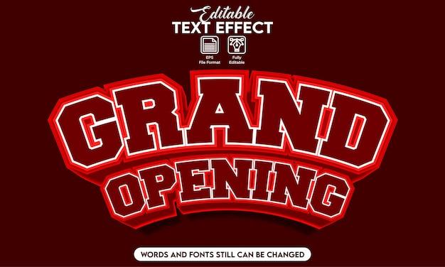 Grande apertura effetto testo modificabile