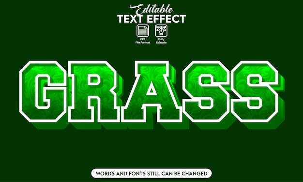Effetto testo modificabile erba