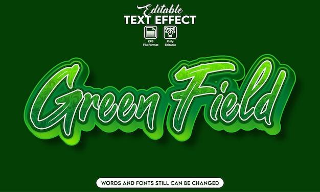 Campo verde effetto testo modificabile