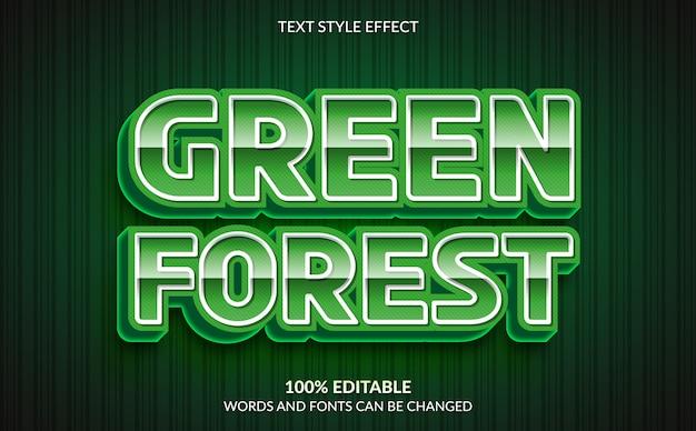 Effetto di testo modificabile, stile testo foresta verde