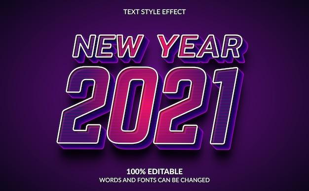 Effetto di testo modificabile, stile di testo di felice anno nuovo