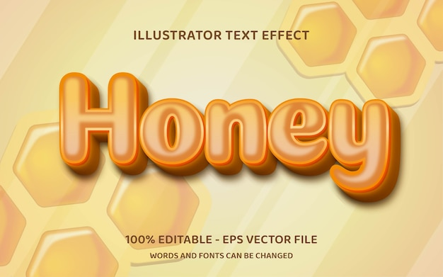 Effetto di testo modificabile, stile miele