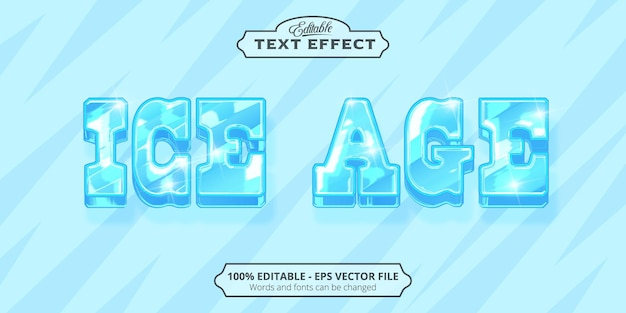 Effetto di testo modificabile, testo l'era glaciale