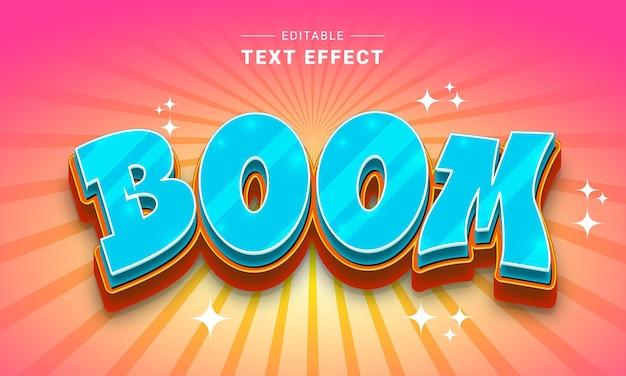 Effetto di testo modificabile per illustrator effetto di testo dei cartoni animati