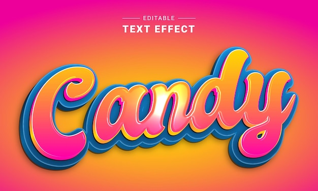 Effetto di testo modificabile per l'effetto di testo di illustrator nutri