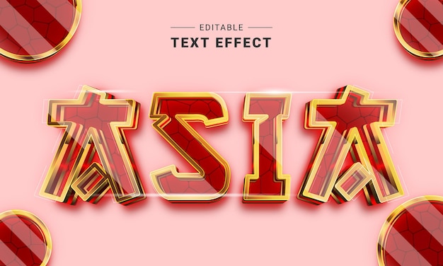 Effetto di testo modificabile per illustrator