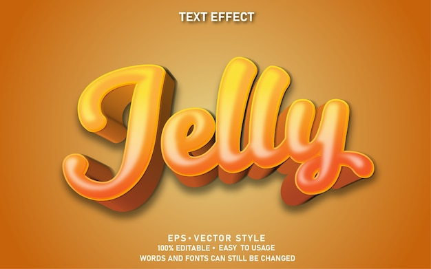 Gelatina effetto testo modificabile