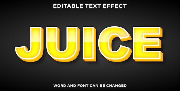 Succo di effetto testo modificabile
