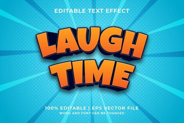 Effetto testo modificabile - laugh time 3d template style premium vector