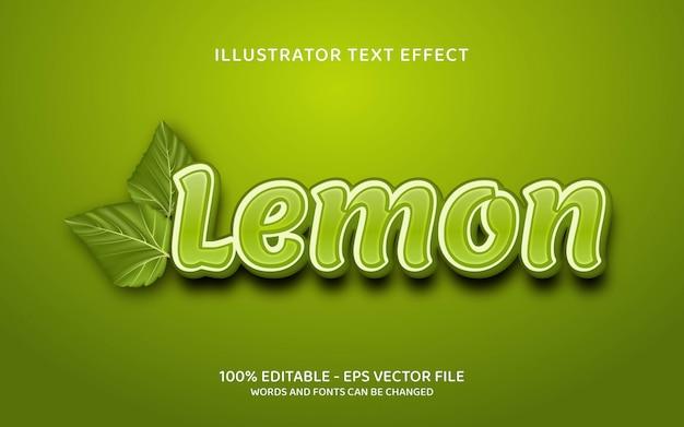 Effetto di testo modificabile, illustrazioni in stile limone