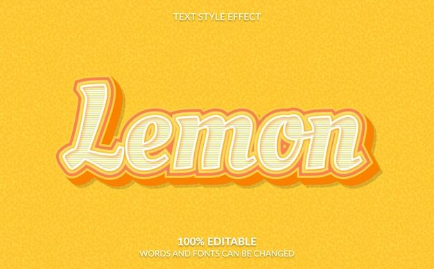 Effetto testo modificabile, stile testo limone