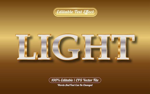 Effetto testo modificabile in stile oro chiaro