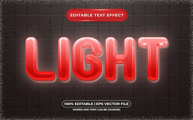 Stile luce effetto testo modificabile