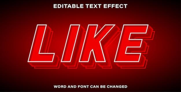 Effetto di testo modificabile - mi piace