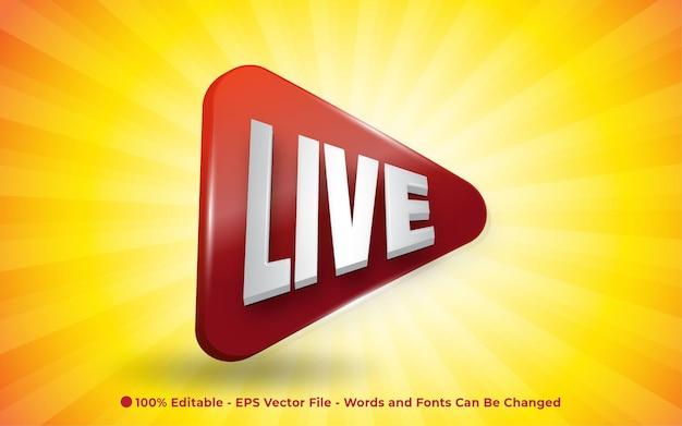 Effetto di testo modificabile, illustrazioni in stile 3d live icon