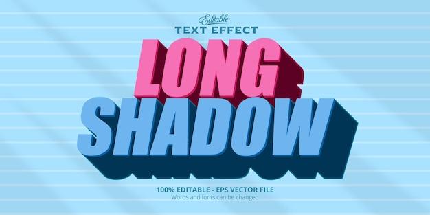 Effetto di testo modificabile, testo con ombra lunga