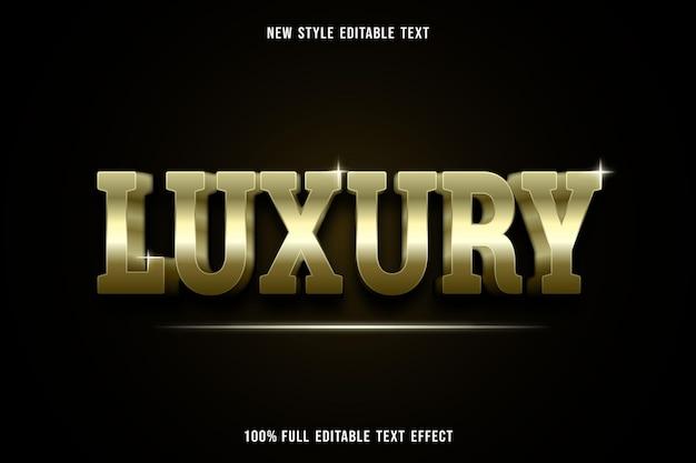Testo modificabile effetto lusso in oro