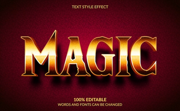Effetto di testo modificabile, stile testo magico