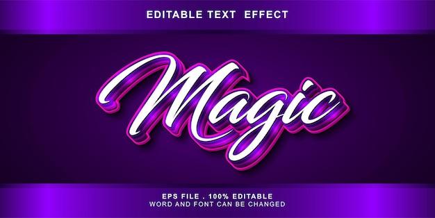 Testo modificabile effetto magico