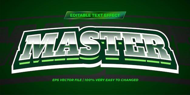 Effetto testo modificabile - colore verde stile testo master