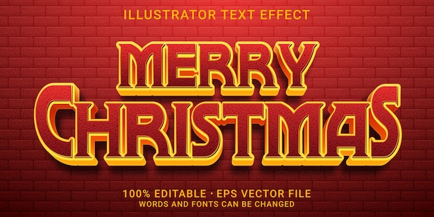 Testo modificabile effetto merry christmas style