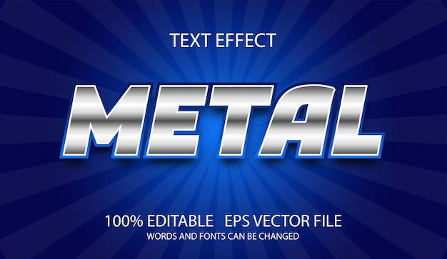 Modello modificabile effetto testo in metallo argento