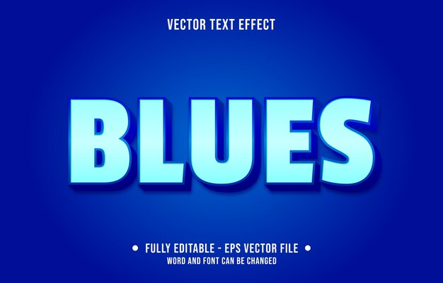 Testo modificabile effetto moderno stile blu