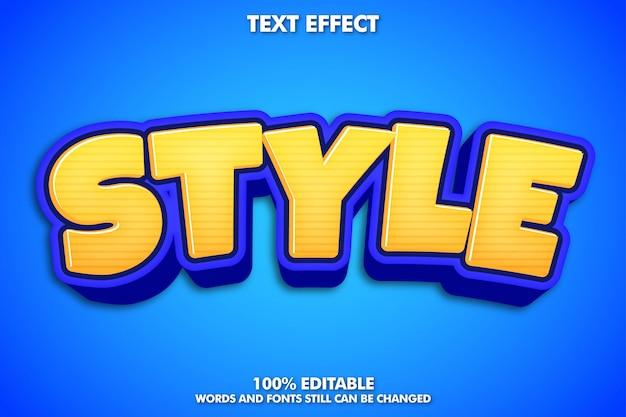 Effetto di testo modificabile, stile di testo moderno dei cartoni animati