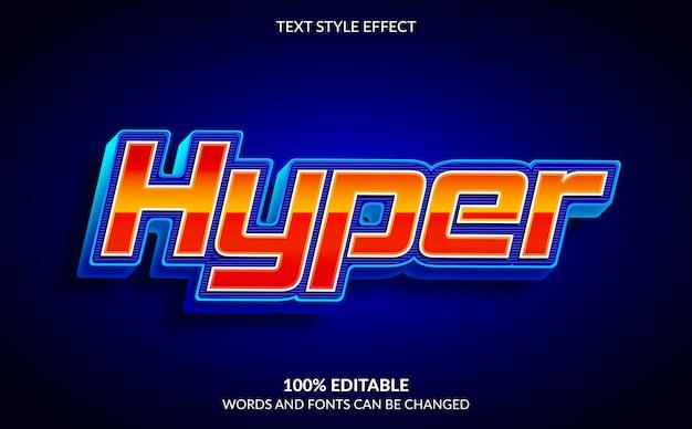 Effetto di testo modificabile, stile hyper text moderno e futuristico