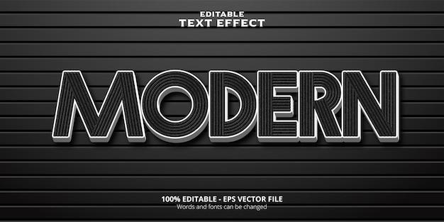 Testo modificabile effetto testo moderno